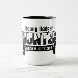 Honey Badger Hunter mug - choose style & color