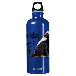 Honey Badger - I just takes what I wants Water Bottle