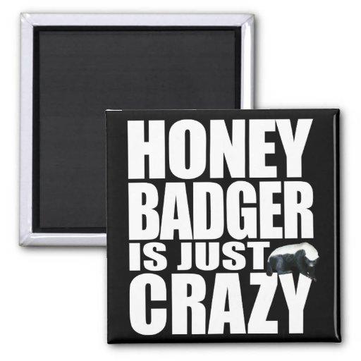 Honey Badger Is Just Crazy 2 Inch Square Magnet
