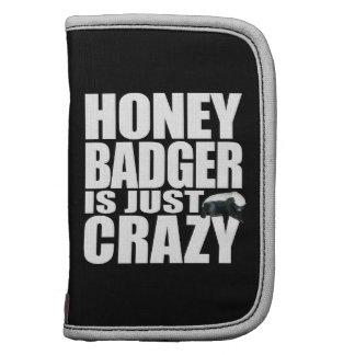 Honey Badger  Is Just Crazy Folio Organizers