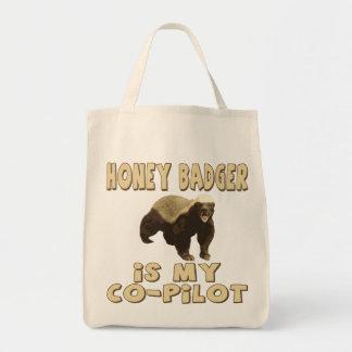 Honey Badger Is My Co-Pilot Bags