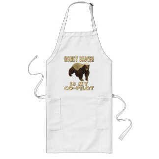 Honey Badger Is My Co-Pilot Long Apron