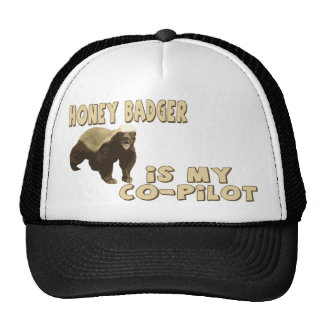 Honey Badger Is My Co-Pilot Trucker Hat