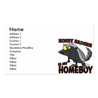 honey badger is my homeboy Double-Sided standard business cards (Pack of 100)