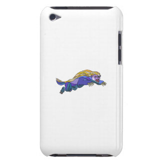 Honey Badger Jumping Drawing iPod Touch Covers