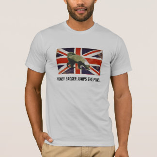 Honey Badger Jumps The Pond Fitted T-Shirt