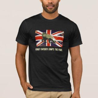 Honey Badger Jumps The Pond Funny T-Shirt