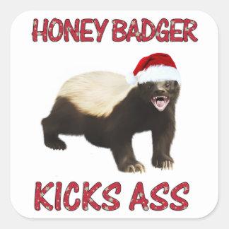 Honey Badger Kicks... Square Sticker