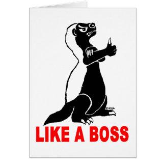 Honey badger, like a boss card