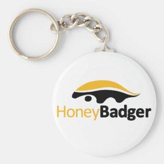 Honey Badger Logo Basic Round Button Keychain