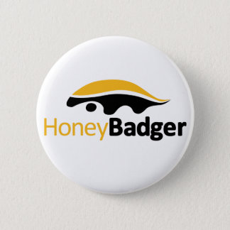 Honey Badger Logo Button