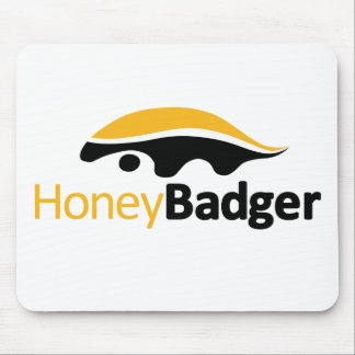 Honey Badger Logo Mouse Pad