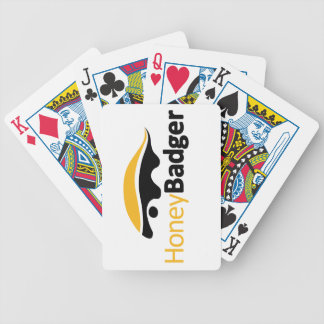 Honey Badger Logo Bicycle Poker Cards