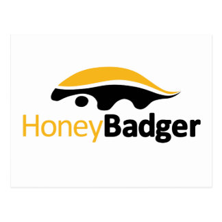 Honey Badger Logo Postcard