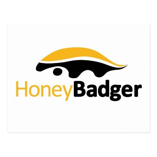 Honey Badger Logo Postcard