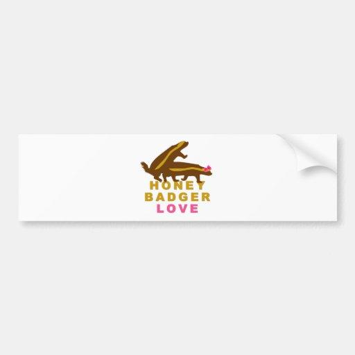 honey badger love bumper sticker