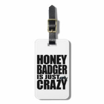 Honey Badger Luggage Tag