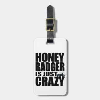 Honey Badger Luggage Tag