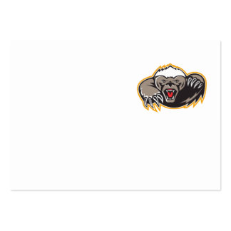 Honey Badger Mascot Claw Business Cards