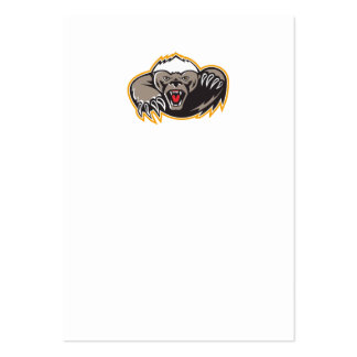 Honey Badger Mascot Claw Business Card Templates
