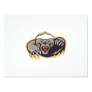 Honey Badger Mascot Claw 17 Cm X 22 Cm Invitation Card