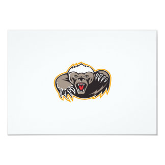 Honey Badger Mascot Claw 9 Cm X 13 Cm Invitation Card