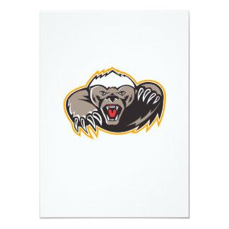 Honey Badger Mascot Claw 4.5x6.25 Paper Invitation Card