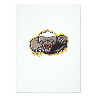 Honey Badger Mascot Claw 14 Cm X 19 Cm Invitation Card