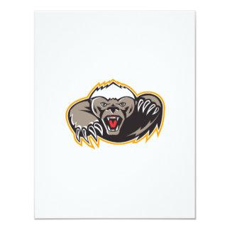Honey Badger Mascot Claw 11 Cm X 14 Cm Invitation Card