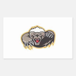 Honey Badger Mascot Claw Sticker