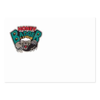 Honey Badger Mascot Front Business Card Templates