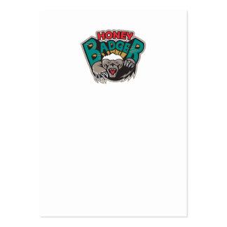 Honey Badger Mascot Front Business Cards
