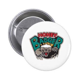 Honey Badger Mascot Front Pin