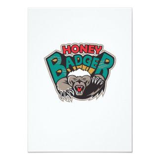 Honey Badger Mascot Front 4.5x6.25 Paper Invitation Card