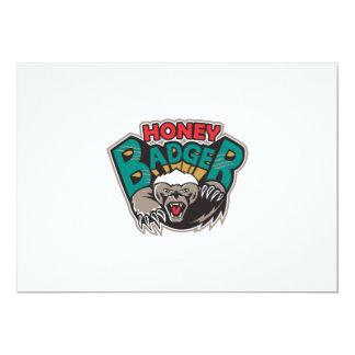 Honey Badger Mascot Front 13 Cm X 18 Cm Invitation Card
