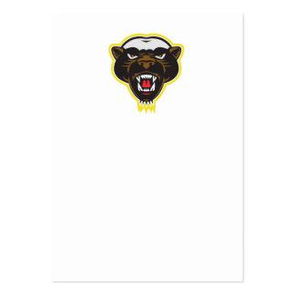 Honey Badger Mascot Head Business Cards