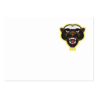 Honey Badger Mascot Head Business Card