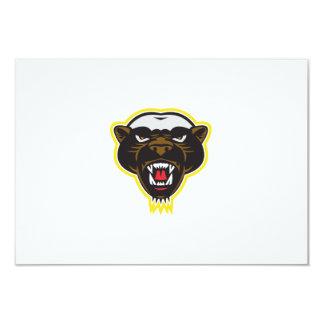 Honey Badger Mascot Head 9 Cm X 13 Cm Invitation Card