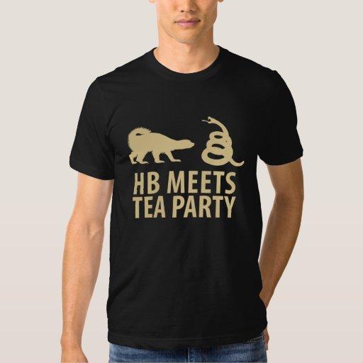 Honey Badger Meets Tea Party Tshirt
