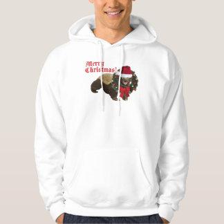Honey Badger Merry Christmas Hooded Sweatshirt