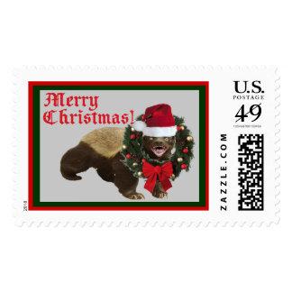 Honey Badger Merry Christmas Stamp