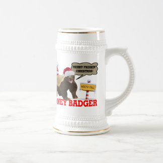 Honey Badger Merry Freakin' Christmas Beer Stein
