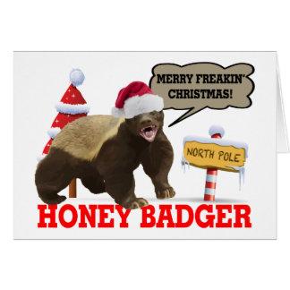Honey Badger Merry Freakin' Christmas Card