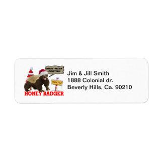 Honey Badger Merry Freakin' Christmas Label