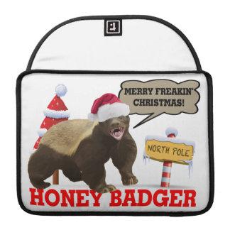 Honey Badger Merry Freakin' Christmas MacBook Pro Sleeve