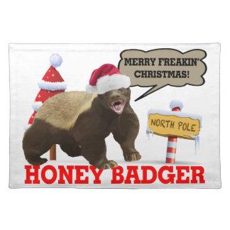 Honey Badger Merry Freakin' Christmas Place Mat