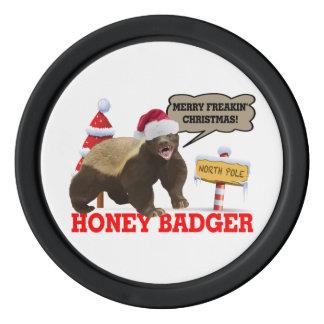 Honey Badger Merry Freakin' Christmas Poker Chip Set