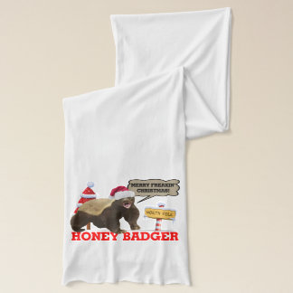 Honey Badger Merry Freakin' Christmas Scarf