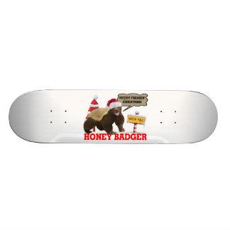 Honey Badger Merry Freakin' Christmas Skateboard