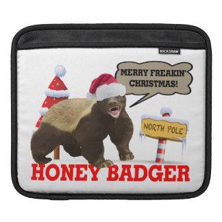 Honey Badger Merry Freakin' Christmas Sleeves For iPads